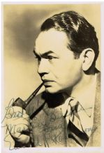 Edward G Robinson Autograph Signed Photo
